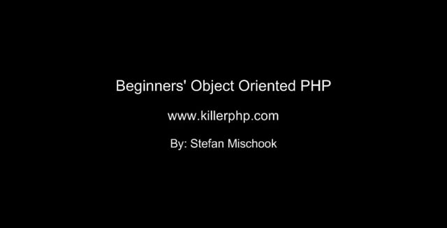 1. Introduction to OO PHP