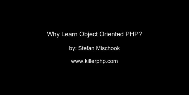 2. Why learn OO PHP?