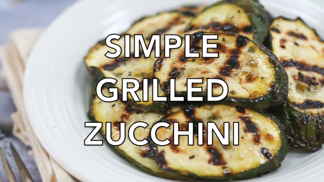 Simple Grilled Zucchini
