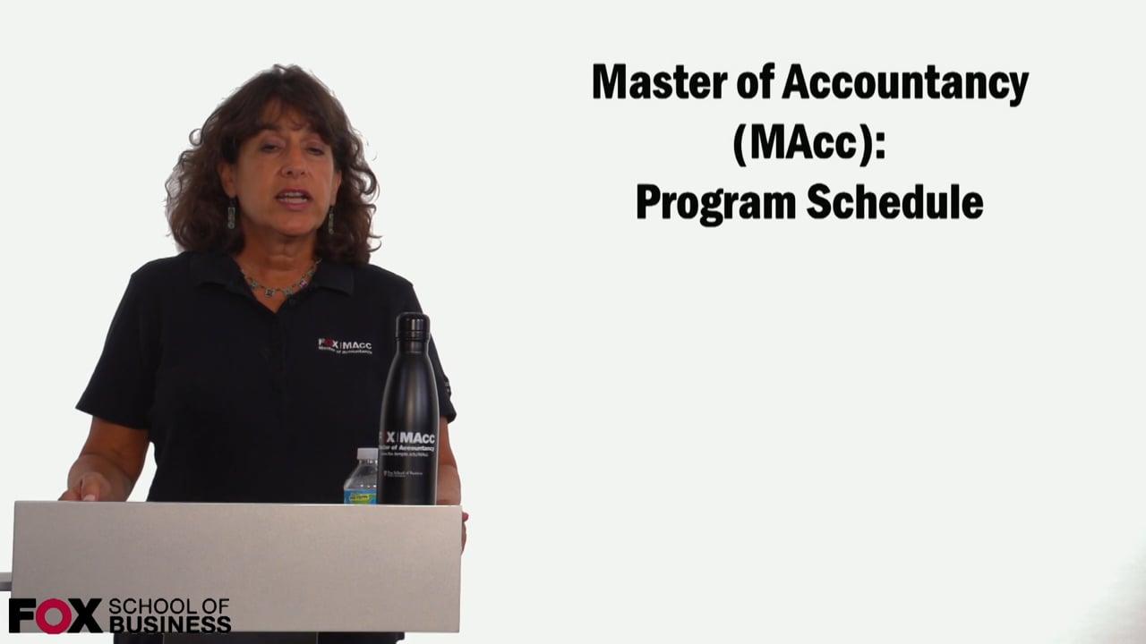59102Masters of Accountancy: Program Schedule