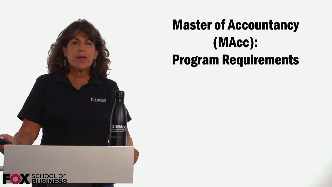 59101Masters of Accountancy: Program Requirements
