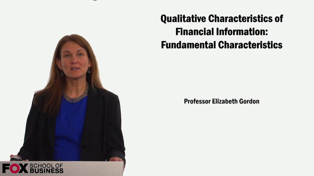 59123Qualitative Characteristics of Financial Information: Fundamental Characteristics
