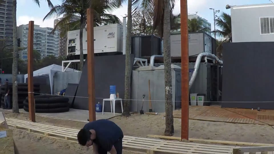 TIMELAPSE of Danish Pavilion, Ipanema Beach