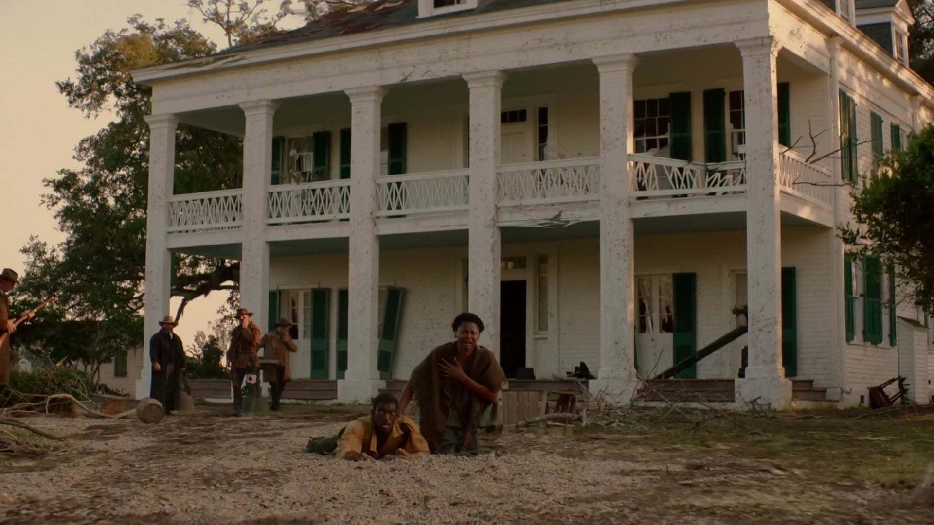 A+E / History Channel Roots Miniseries House Damage VFX