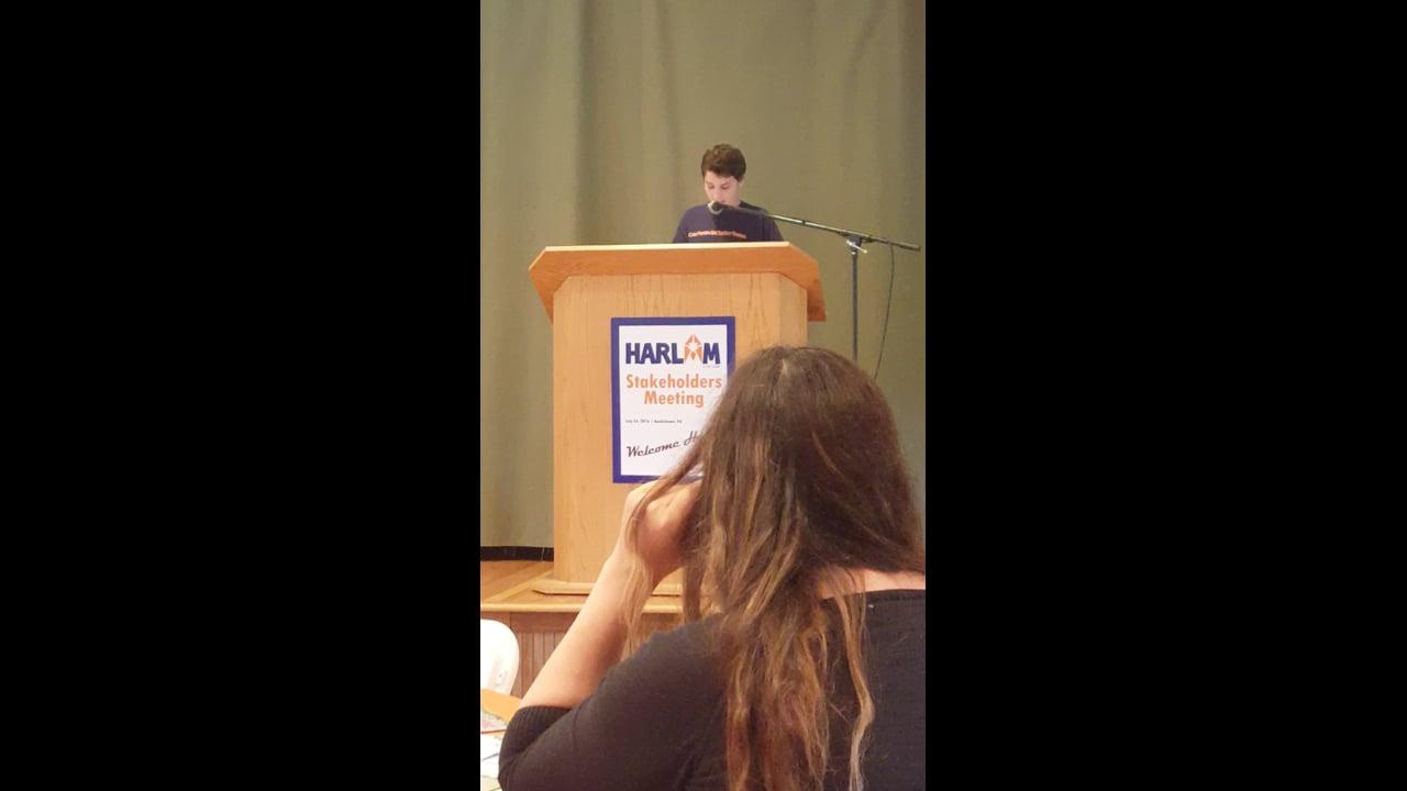 Maya's speech at the Harlam Stakeholder's Meeting