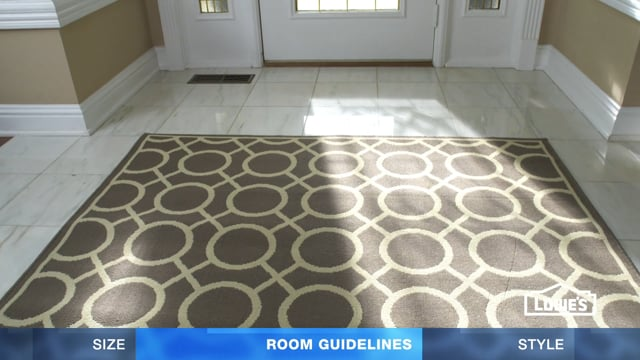Lowe's - How to Choose Area Rugs
