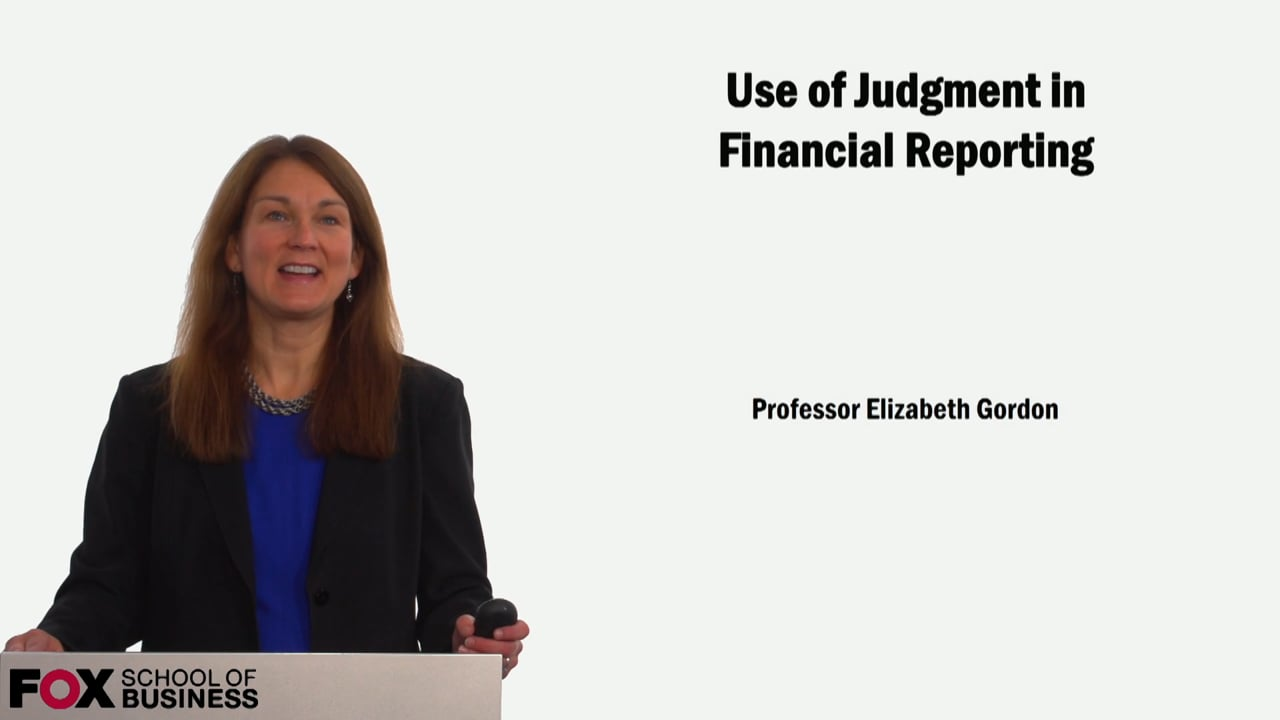 59128Use of Judgement in Financial Reporting