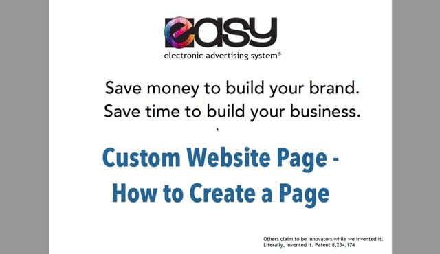Website - Custom Page / Blog - 02 How to Create
