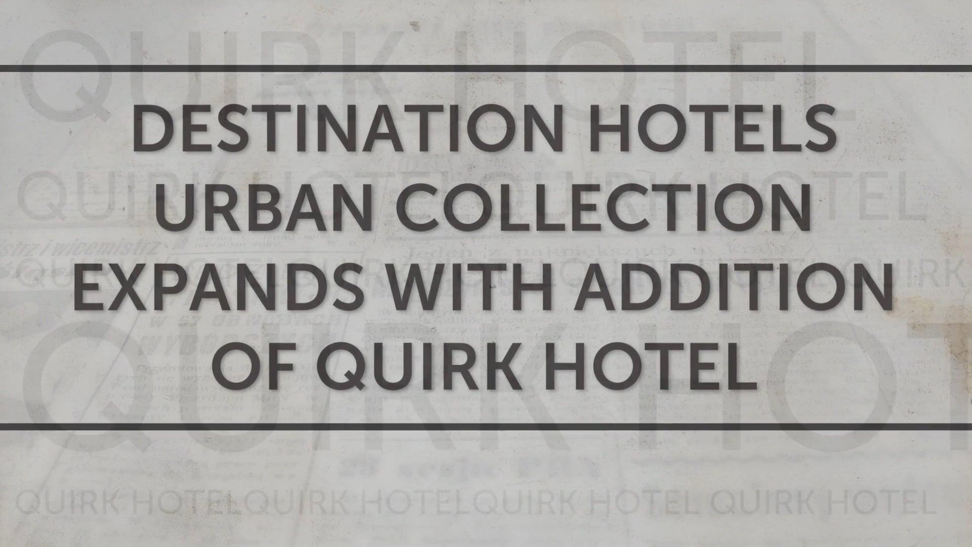 Destination Hotels & Resorts PR Sizzle Reel 2015