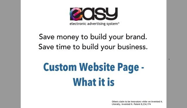 Website - Custom Page / Blog - 01 What it is