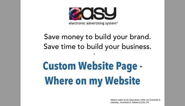 Website - Custom Page / Blog - 03 Where on my website