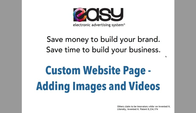 Website - Custom Page / Blog - 04 Adding Images & Videos