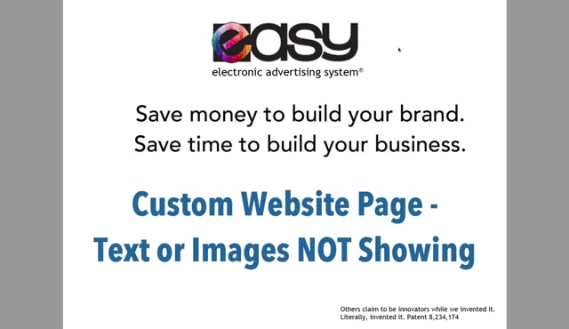 Website - Custom Page / Blog - 07 Text or Image NOT Showing