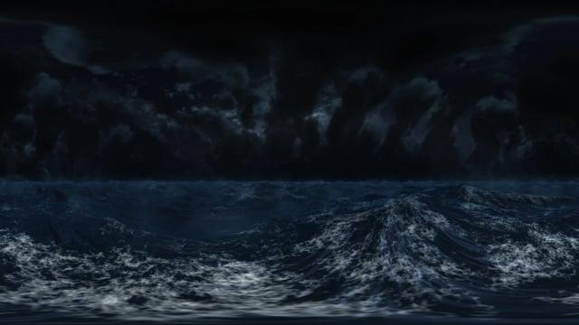 Stormy ocean VR