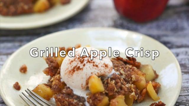 Grilled Apple Crisp in a Foil Pack