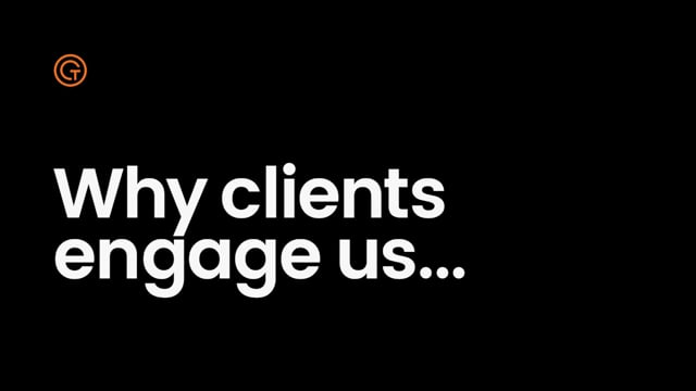 Generator Talent Group - Why clients engage us