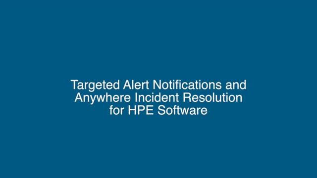 EnterpriseAlert with HPE Software