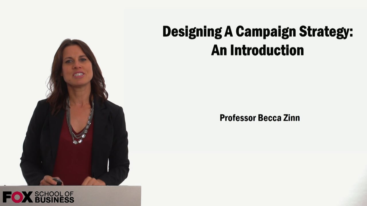 59139Designing A Campaign Strategy: An Introduction