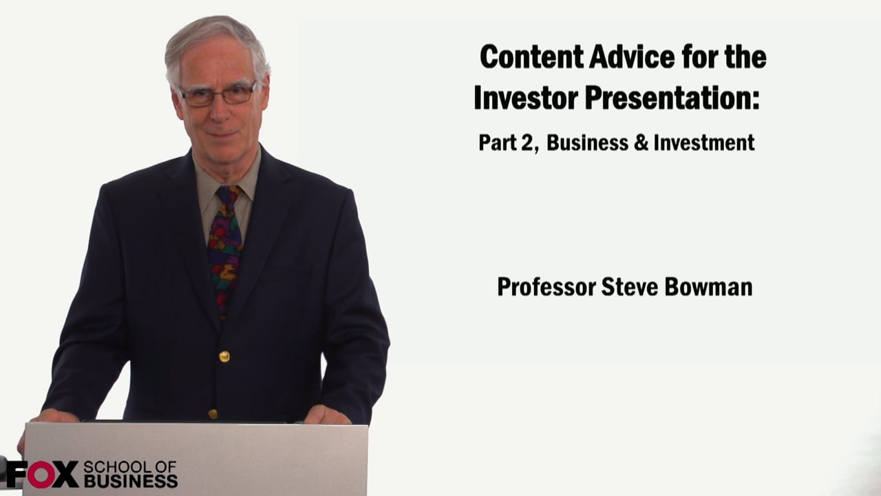 59061Content Advice for the Investor Presentation Part 2