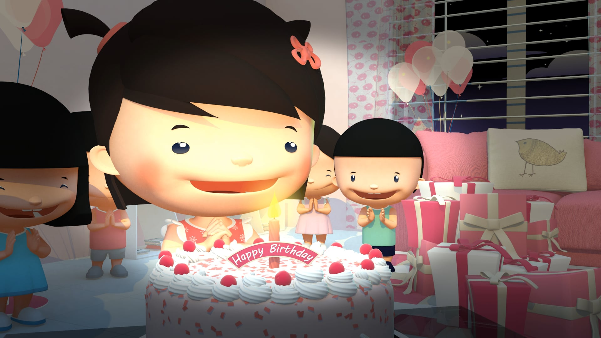 Hello Kitty blanket commercial Vietnam 2014