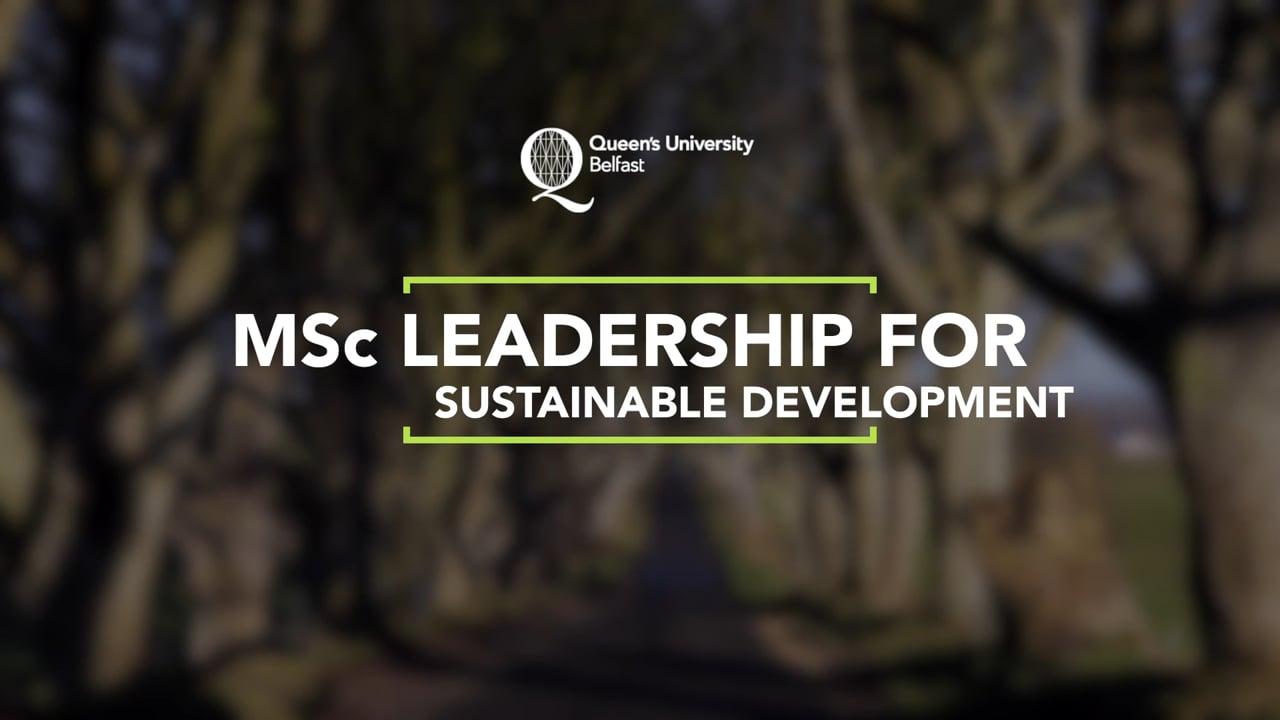 MSc Sustainable Development - Short