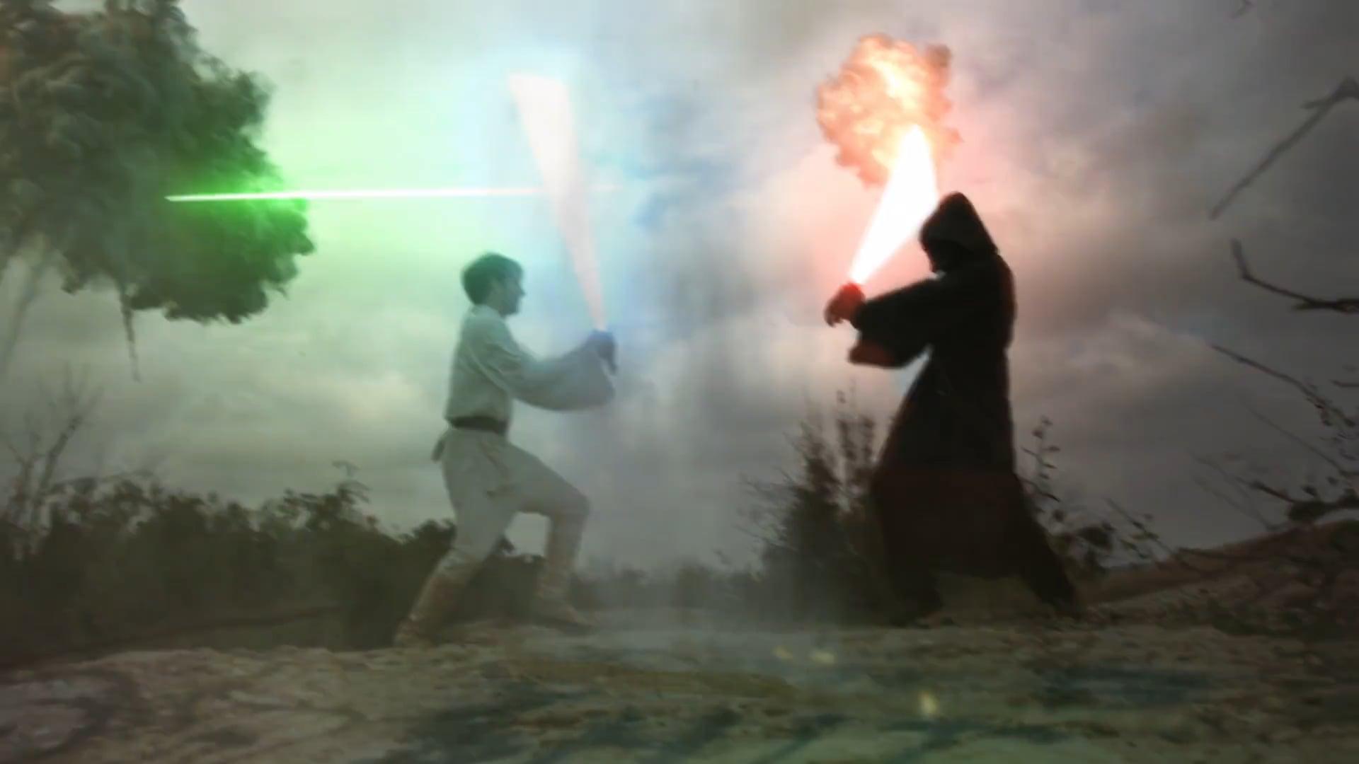 Light Saber Battle Effect