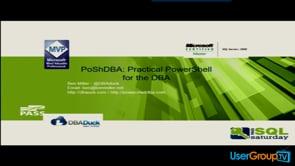 PoShDBA: Practical PowerShell for the DBA