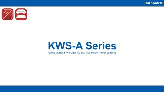 KWS-A Single Output 5W to 25W AC-DC PCB-Mount Power Supplies Video