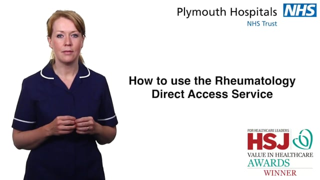 3122 How to Use the Rheumatology Direct Access Service