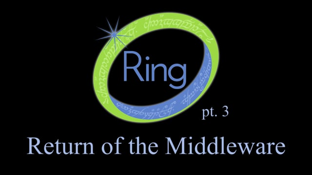 17. Ring, part 3: Return of the Middleware
