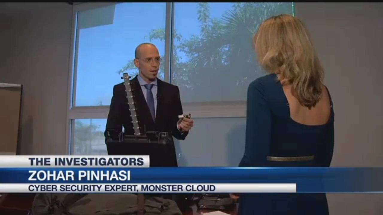 """Zohar Pinhasi - MonsterCloud's CEO is Interviewed by """"NBC"""" investigators on CyberSecurity and the risks of open Wi-Fi"""