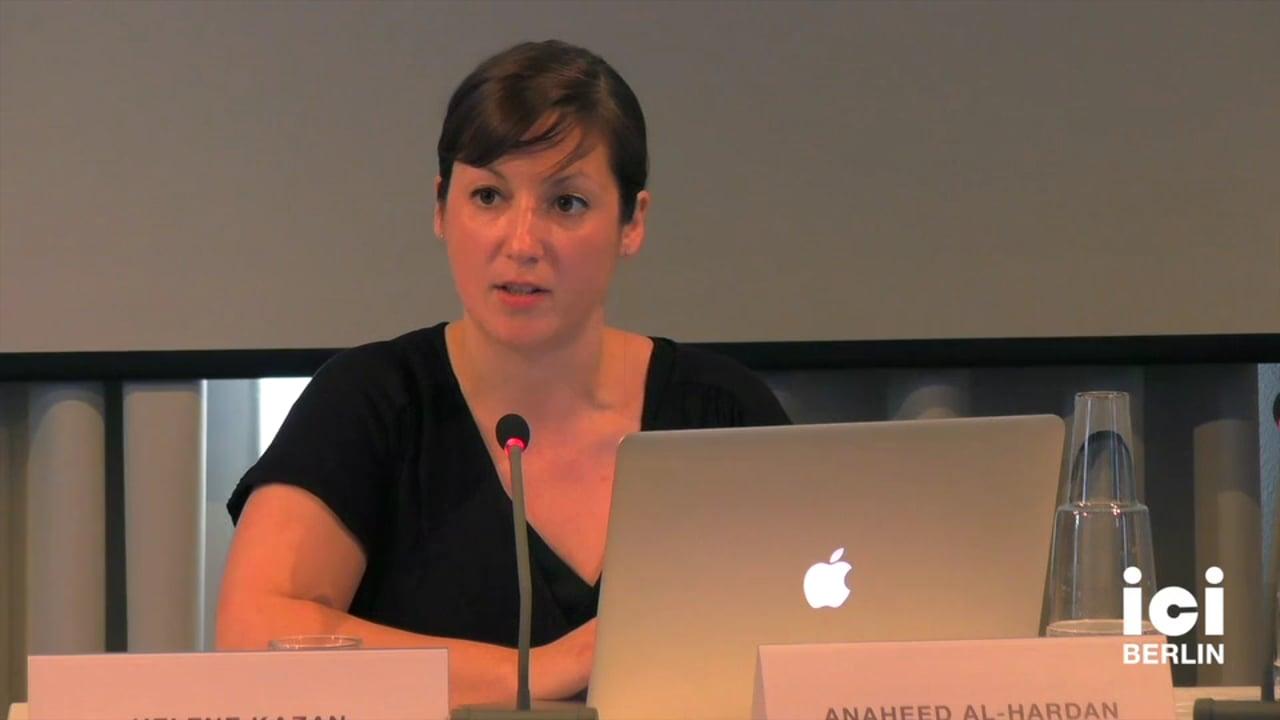 Talk by Helene Kazan