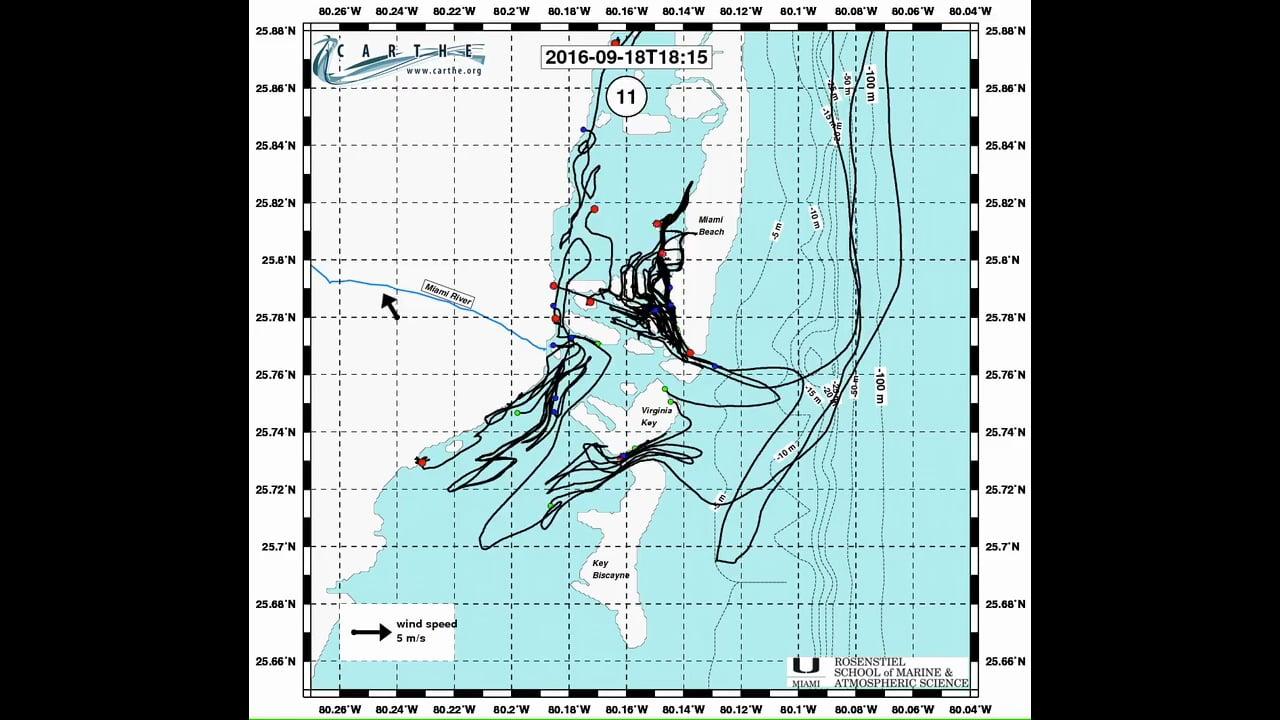 Bay Drift drifter tracks Sept 7-27