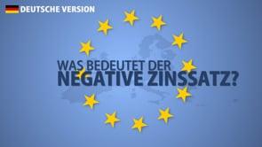 Was ist der negative Zinssatz?