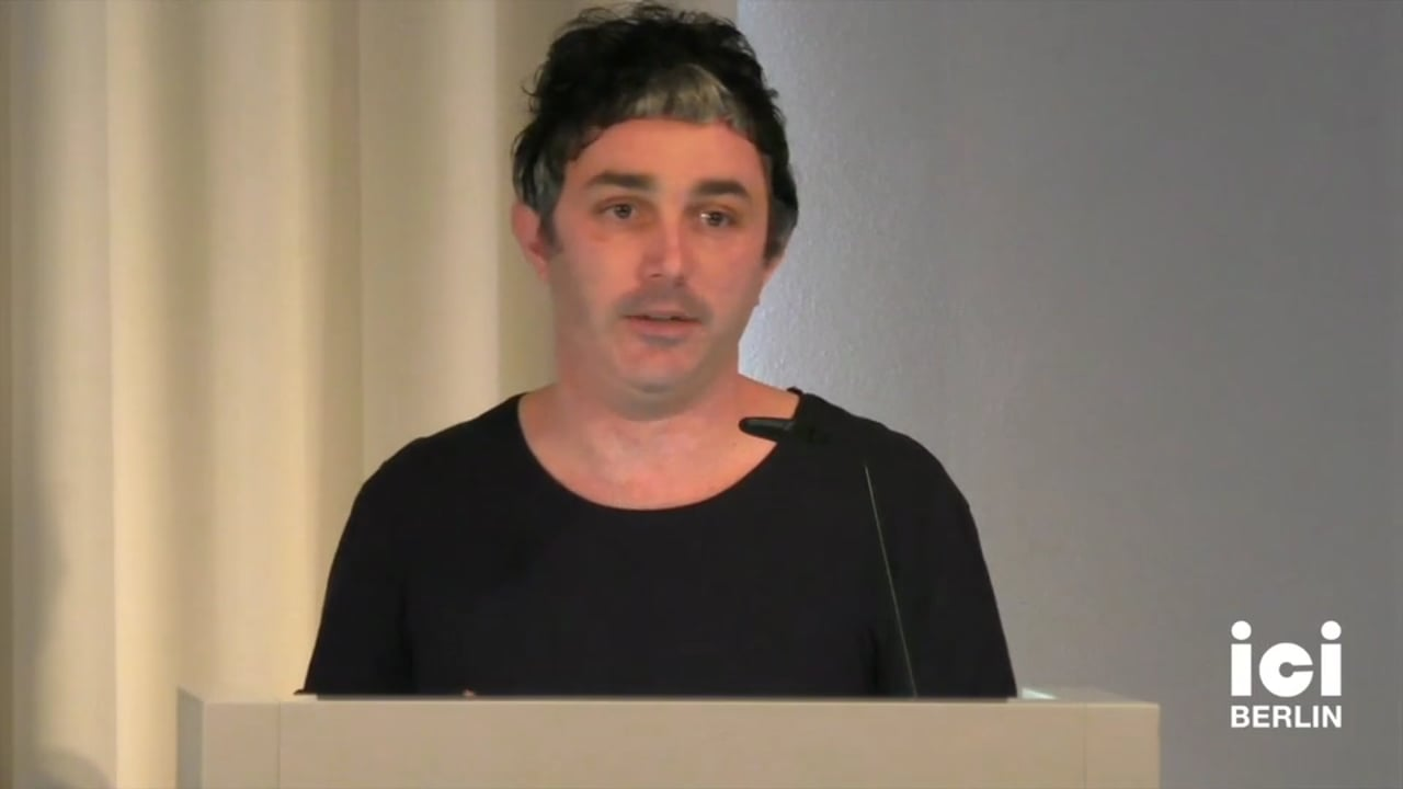 Talk by Giovanni Tusa