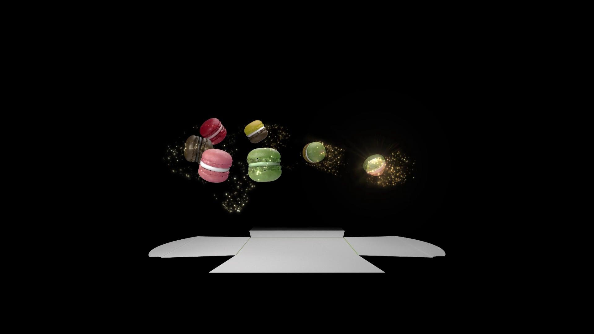 Luxemburgerli Sprüngli (Hologramm)