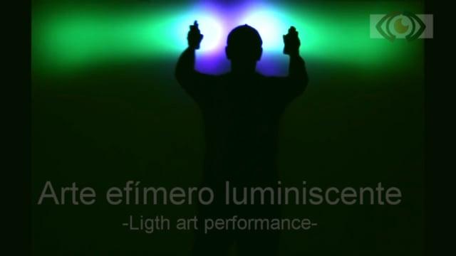 Peformance arte luminiscente para eventos | ContratarArtistas