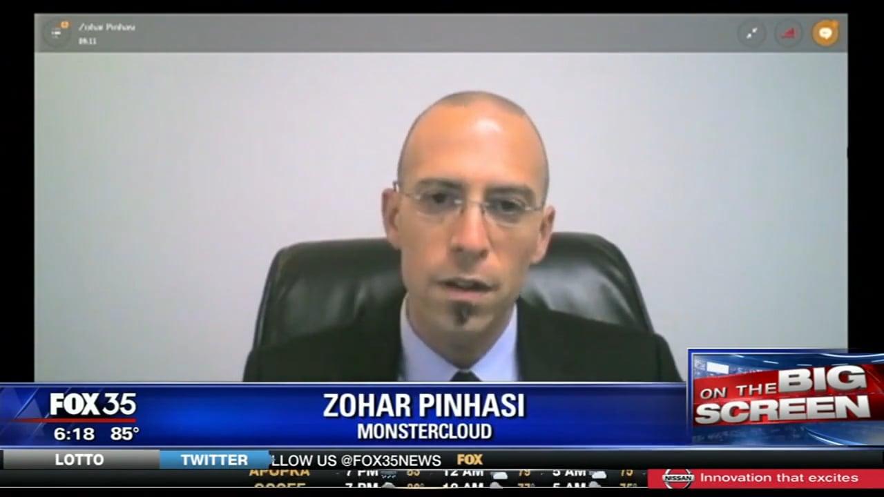 "Zohar Pinhasi MonsterCloud's C.E.O talks to ""FOX NEWS"" about the recent ""Brad Pitt"" Facebook virus"
