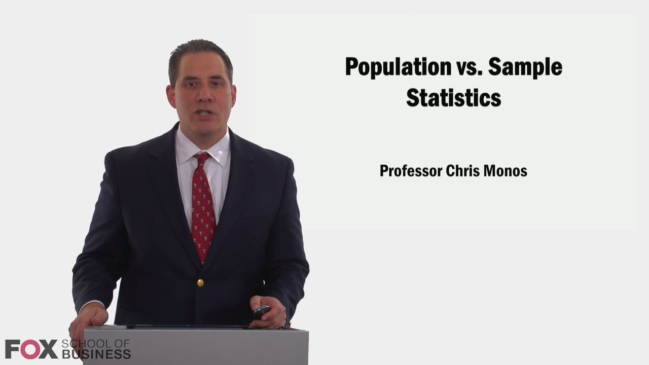 58983Population vs Sample Statistics