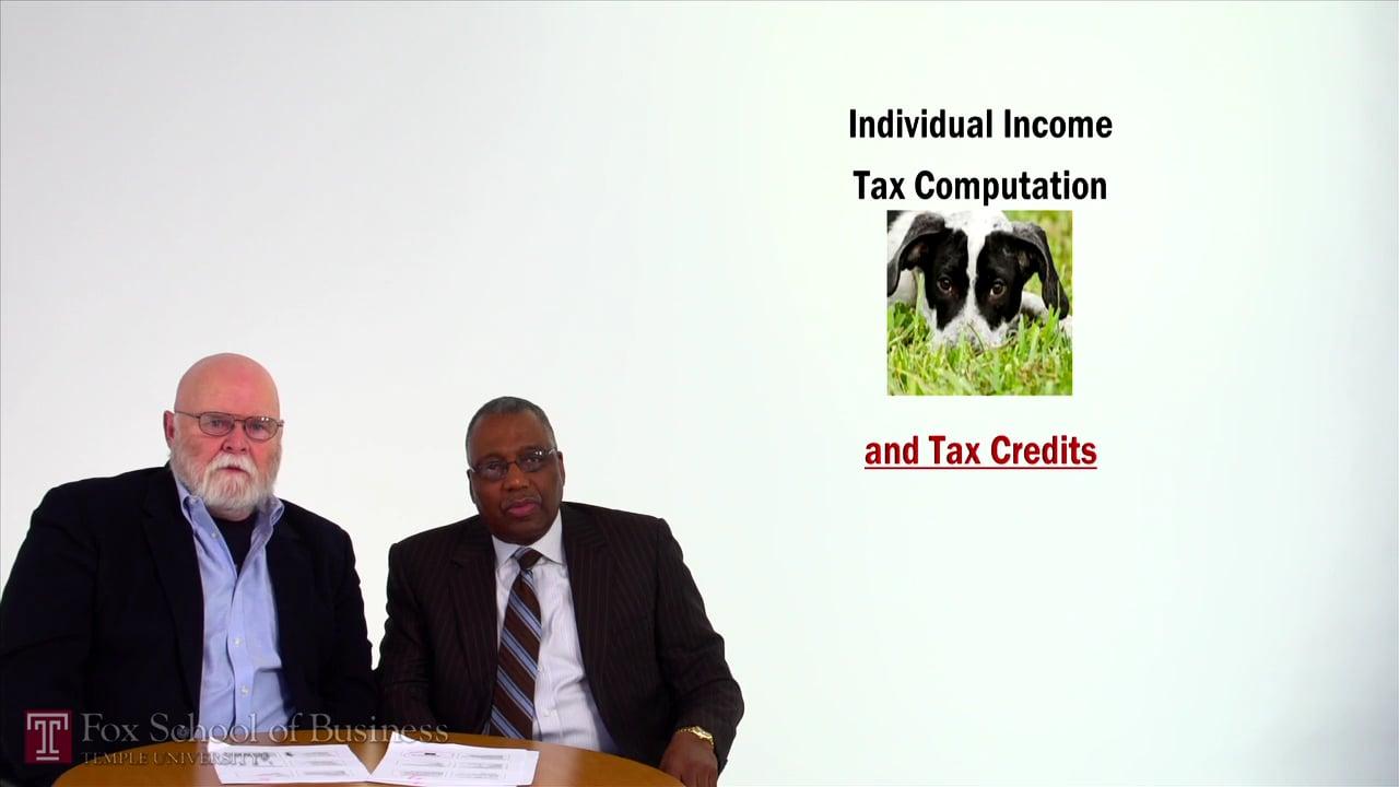 57072Individual Income Tax Computation and Tax Credits
