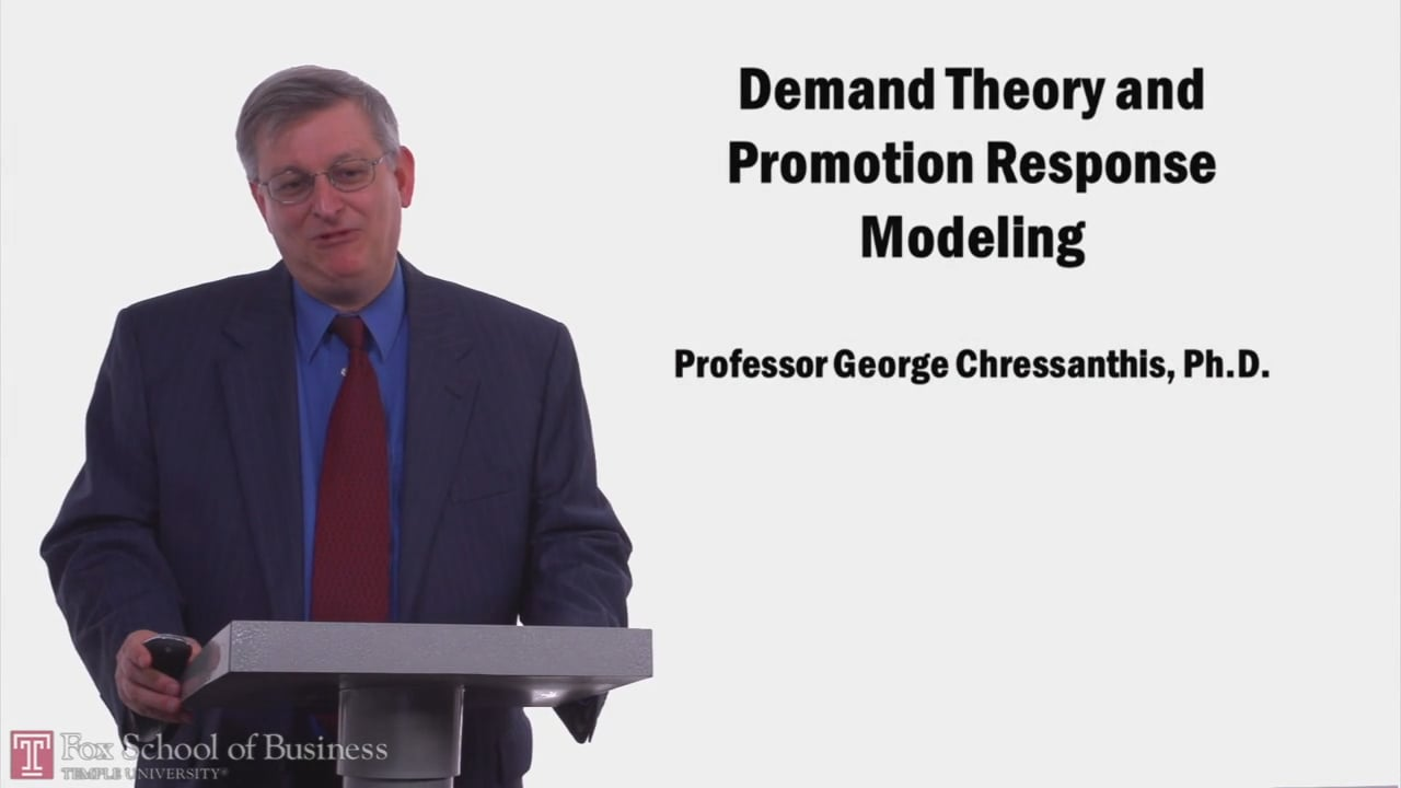 57972Demand Theory and Promotion Response Modeling