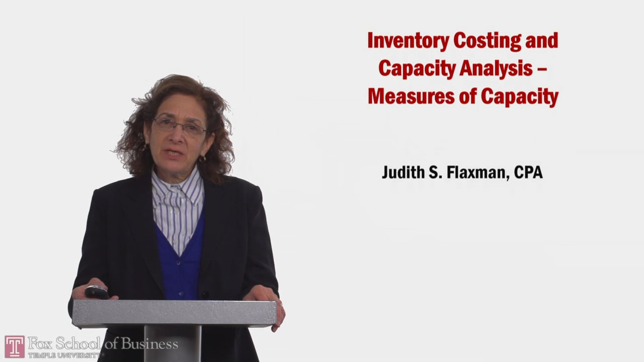 58189Inventory Costing and Capacity Analysis: Measures of Capacity