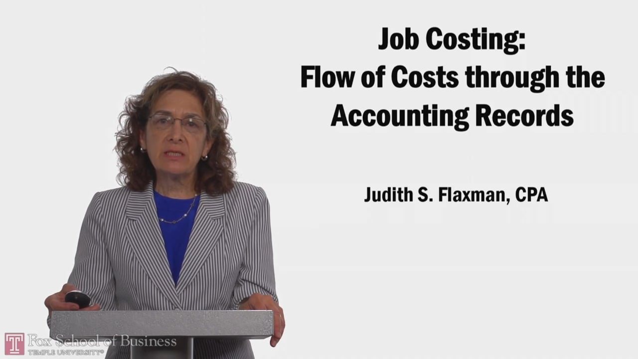 58098Job Costing Flow of Costs through the Accounting Records