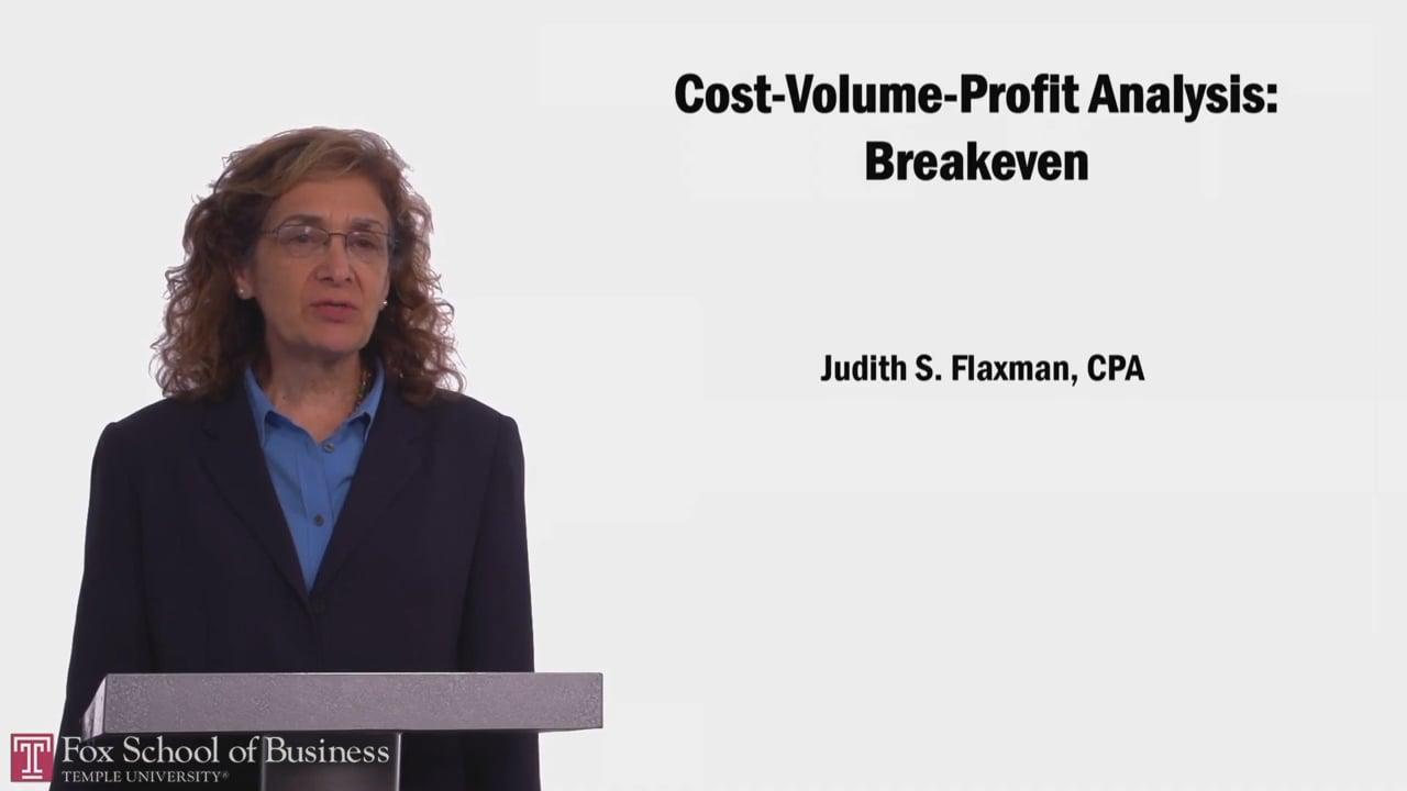 58058Cost-Volume-Profit Analysis: Breakeven