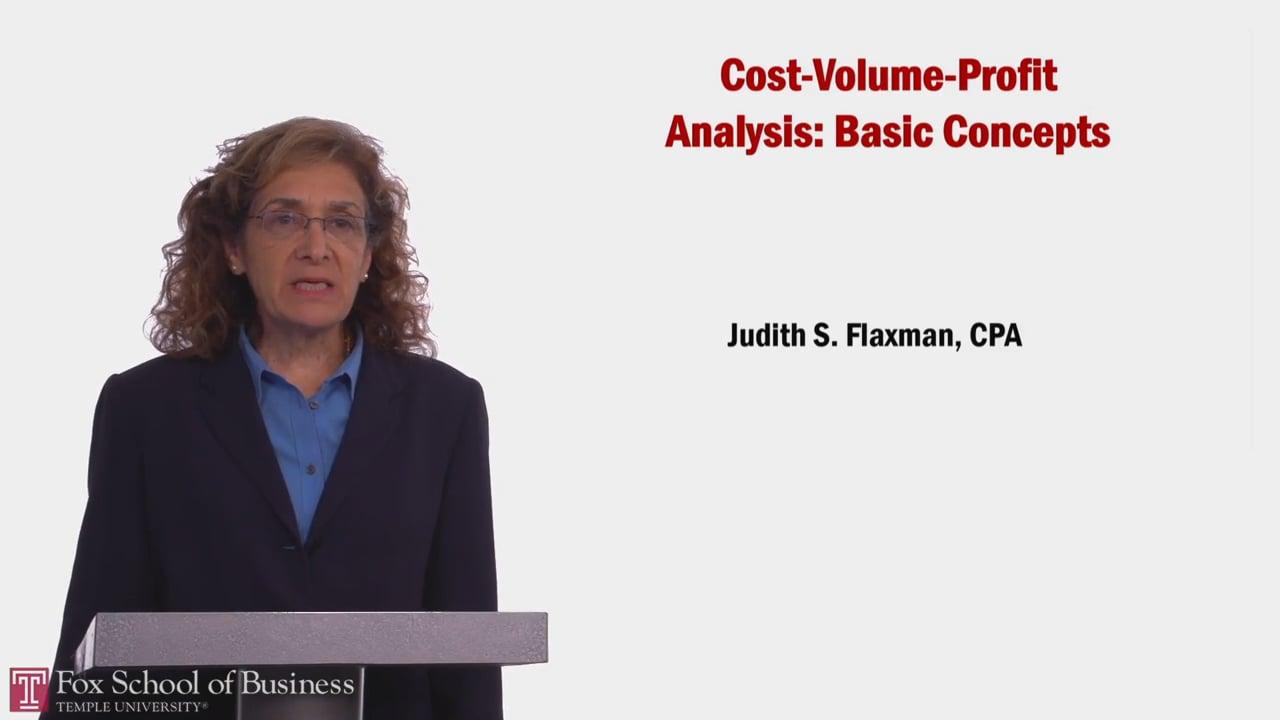 58057Cost-Volume-Profit Analysis: Basic Concepts