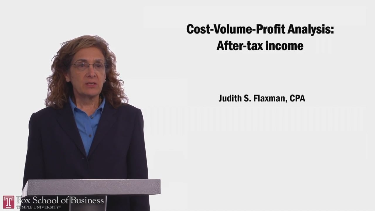 58056Cost-Volume-Profit Analysis: After Tax Income