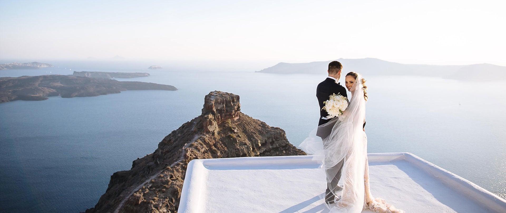 Victoria & Tim Wedding Video Filmed at Santorini, Greece
