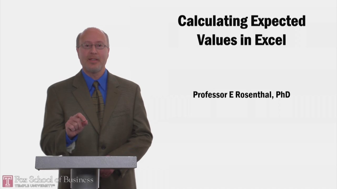 58201Calculating Expected Values in Excel