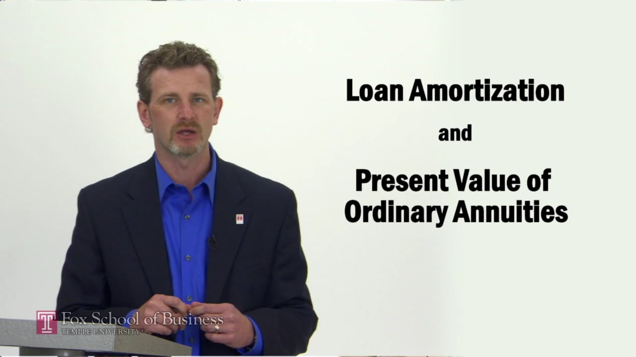 57278Loan Amortization and Present Value of Ordinary Annuities