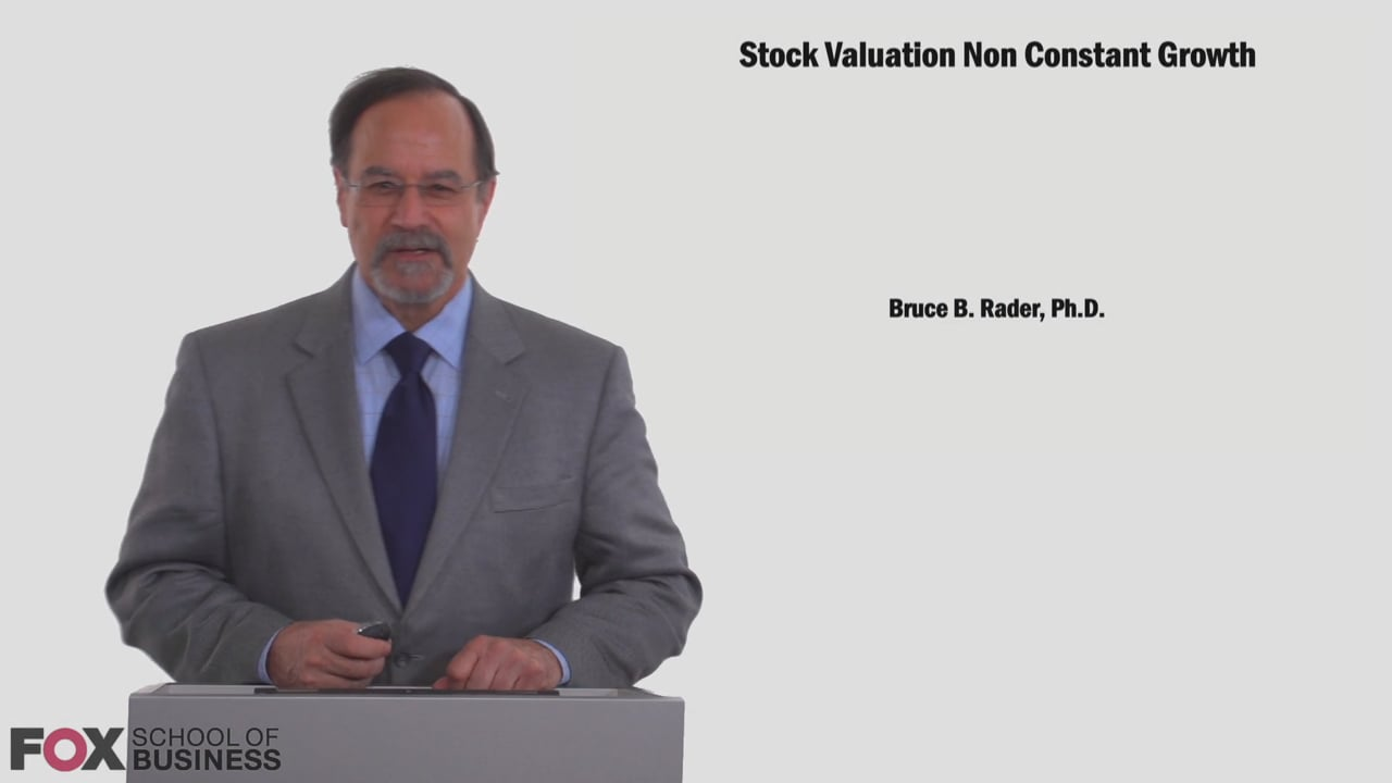 58809Stock Valuation Non Constant Growth